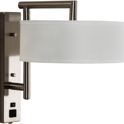 Swing Arm Wall Lamp with Outlets for Hotel WL11128