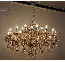 Champagne Glass and Crystal Chandelier for Hotel