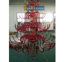 Big Red Glass Chandelier for Hotel