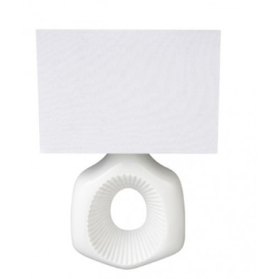White Wall Sconce with Rectangular Half Shade WL11131