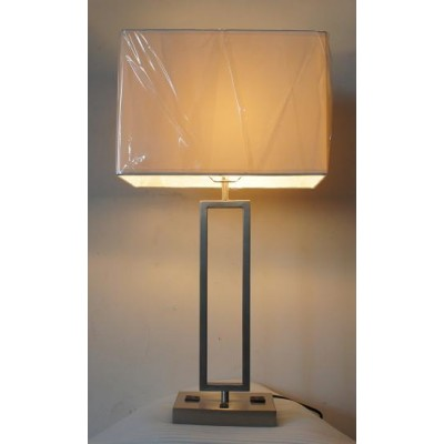 Nightstand Table Lamp with Outlets for La Quinta Verde Lux