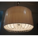 Custom Drum Shade Pendant Light with Crystal Trims