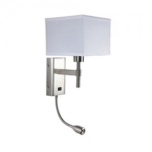 Nightstand Wall Lamp With LED Reading Light WL14702