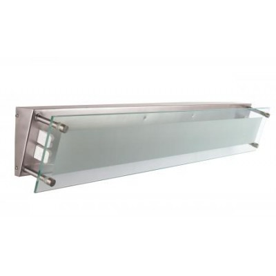 Brushed Nickel Bath Vanity Light with Clear Frosted Glass Diffuser VL11120