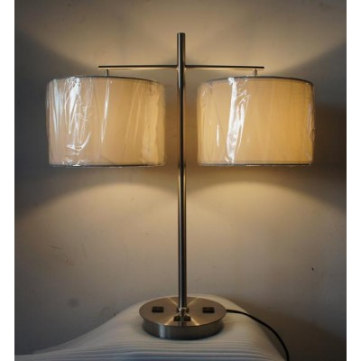 Double Shade Nightstand Table Lamp for Super 8