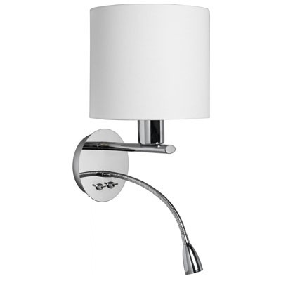 Wall sconce with led flexible reading light for hotel wl11037 mozeypictures Image collections