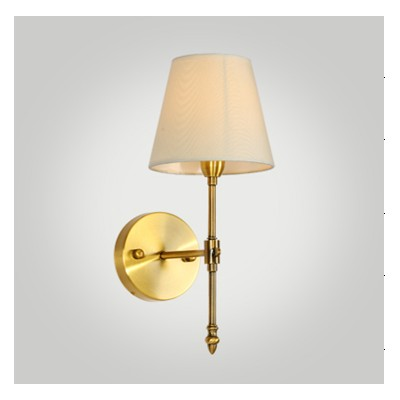 Hotel Wall Lamp In Antique Brass Finish