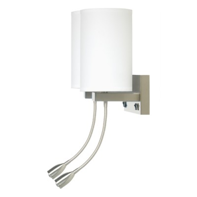 Comfort Inn and Suites Truly Yours Double Wall Lamp with LED Reading Light WL11107D