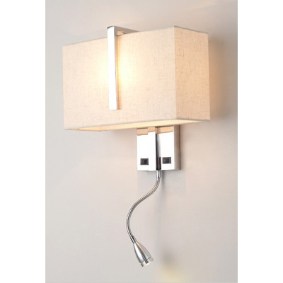 Wall Headboard Lamp with Flexible LED Reading Light